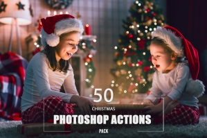 50 Christmas Photoshop Actions