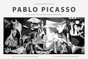 Pablo Picasso's Procreate Brushes & Color Swatches
