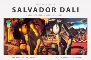 Salvador Dali's Procreate Brushes & Color Swatches