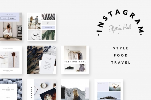 Style Food Travel Instagram Post Templates - Pack 2