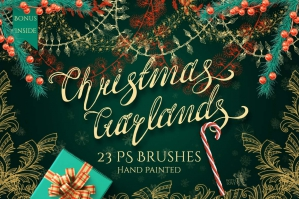 Christmas Garlands PS Brushes