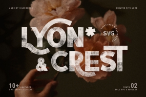 Lyon & Crest - Hand Painted SVG Type