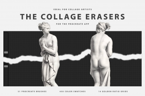 The Collage Erasers for Procreate