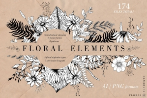 Hand-drawn Floral Collection