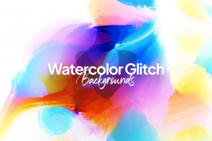 Watercolor Glitch Backgrounds
