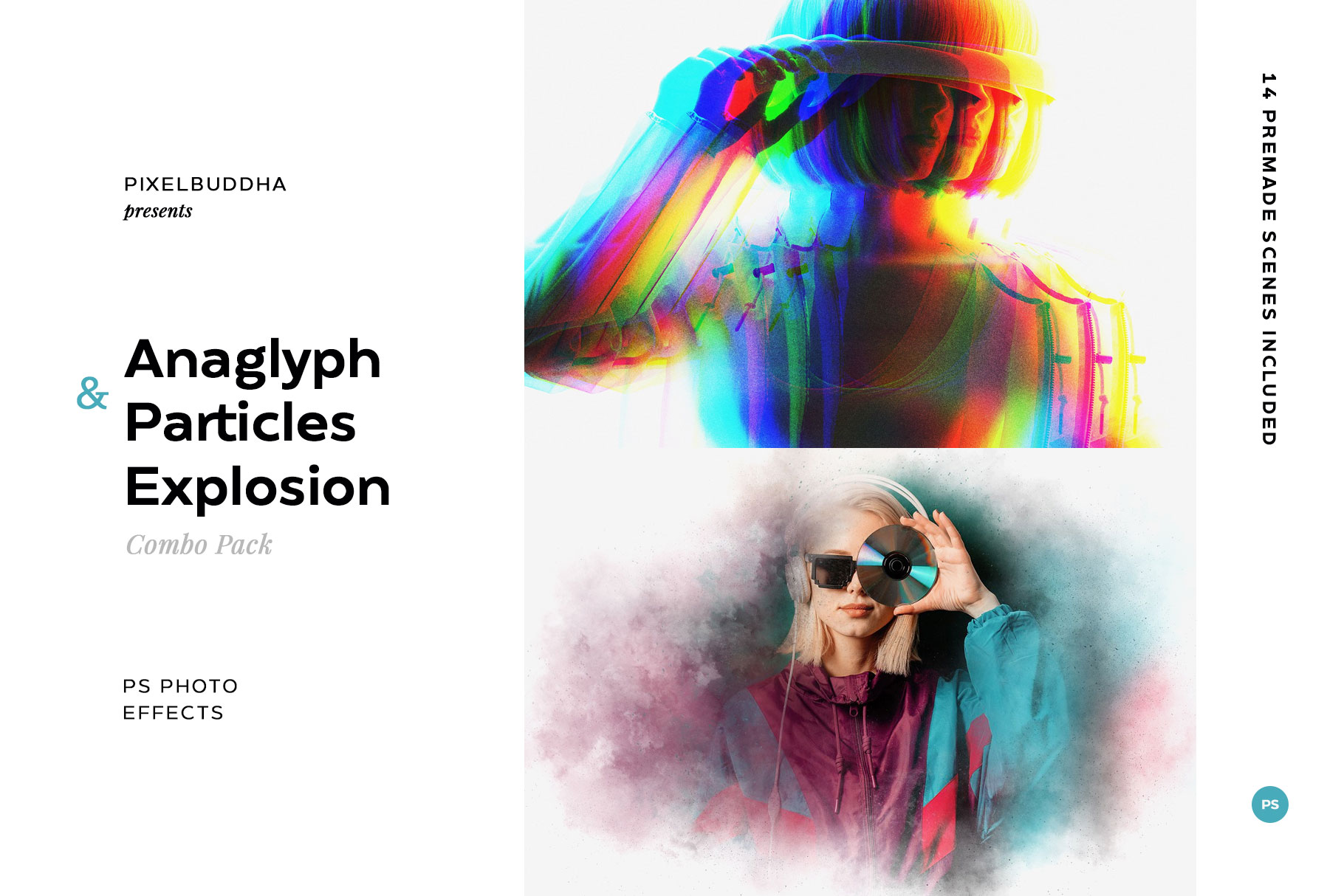 Anaglyph & Particles Explosion Combo Pack