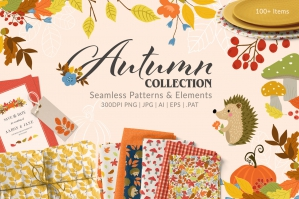 Autumn Patterns and Elements Collection
