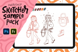 Sketcher Brushes Sample Pack for Photoshop and Fresco