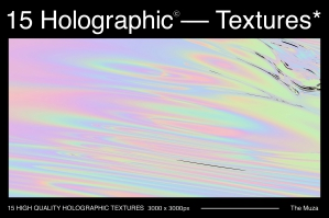 15 High Quality Holographic Textures