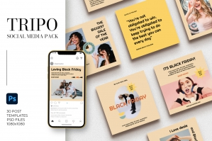 Tripo Instagram Pack | PS