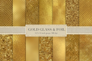 Gold Glass and Foil Textures