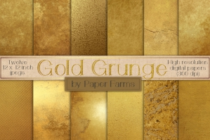 Distressed Gold Grunge Backgrounds