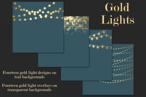 Gold Lights Clipart and Backgrounds