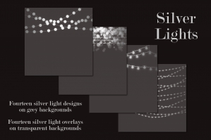 Silver String Lights Clipart