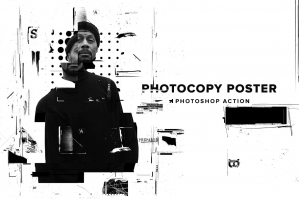 Photocopy Glitch Poster PS Action