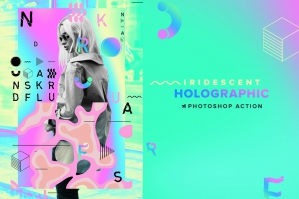 Holographic Iridescent PS Action