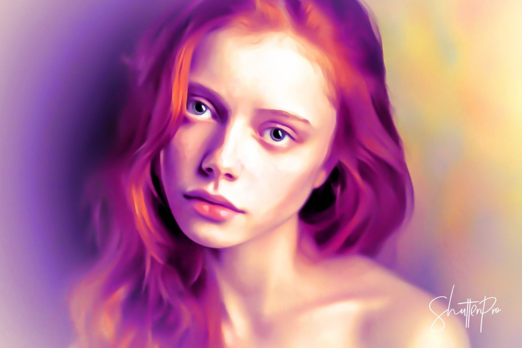 Lovely Oil Painting Effect Photoshop Actions