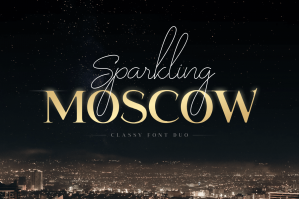 Sparkling Moscow - Classy Modern Font Duo