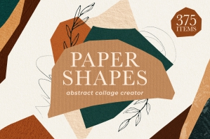 Boho Abstract Shapes Collage Creator