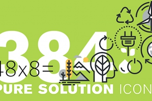 Set of Environment and Green Technology Icons