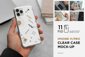 iPhone 11/Pro Clear Case Mock-Up