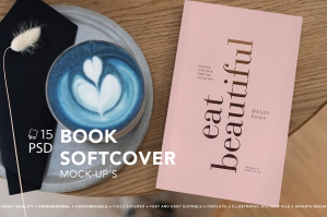 Book Softcover Mock-Up