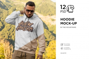 Hoodie Mock-Up Mountains