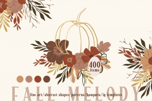 Abstract Fall Line Art Digital Collection