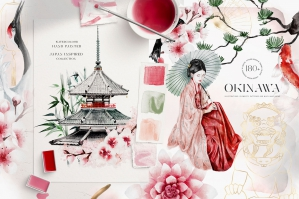 Okinawa: Japan Inspired Watercolour Collection