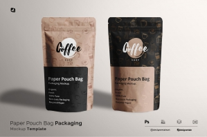 Paper Pouch Bag Packaging Mockup