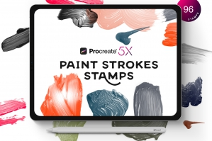 Procreate Paint Strokes Stamps