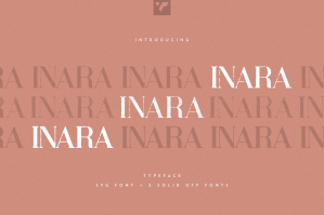 Inara Typeface - SVG + Solid Fonts