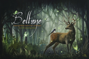 Beltane Fires Watercolor Collection