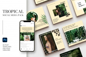 Tropical Instagram Templates | PS