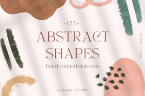Hand Painted Abstract Shapes