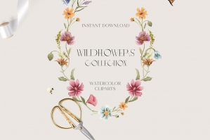 Wildflower Watercolor Collection