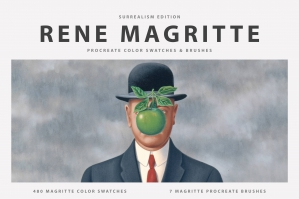 Rene Magritte's Procreate Brushes & Color Swatches