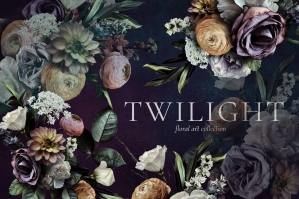 Twilight Floral Art Collection