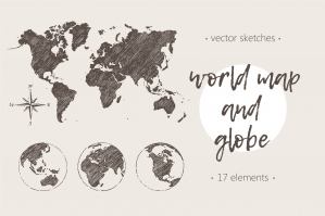 Map of the World and the Globe