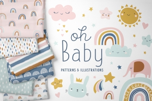 Baby Cute Clipart + Patterns