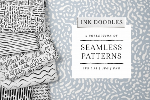 Hand Drawn Patterns in Black & Color