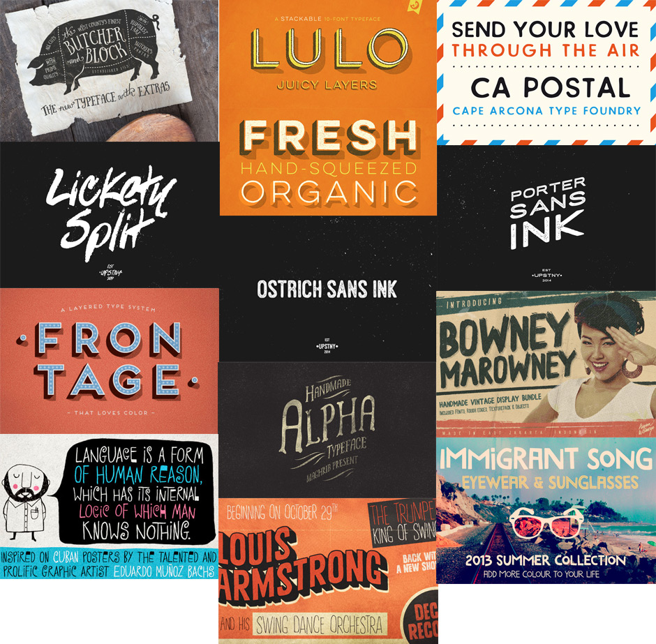 The Inspirational Creative Font Collection